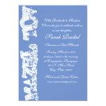 "Mazel Tov Blue Invitation 5"" X 7"" Invitation Card"