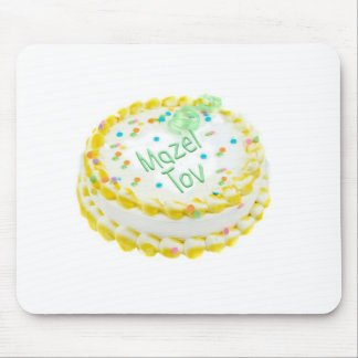 Mazel Tov cake with green and yellow frosting Mouse Pad