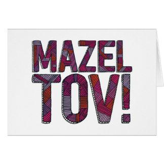 Mazel Tov Patchwork Merlot Greeting Card