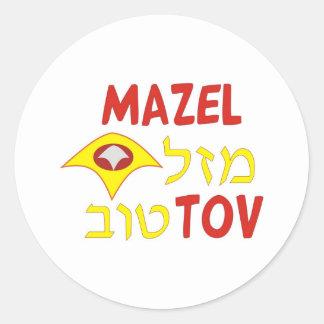 Mazel Tov Round Sticker