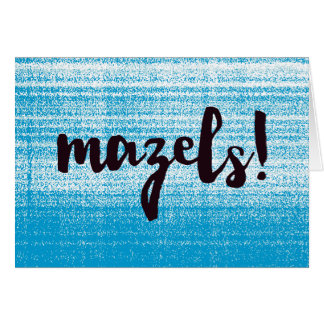 Mazels Blue Card