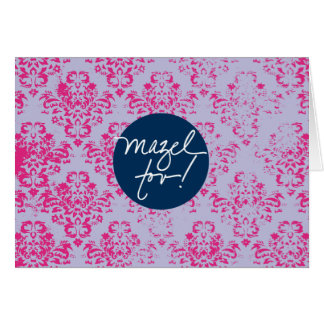 Mazels Tov Pink Wallpaper Card