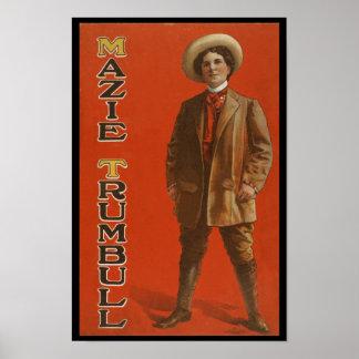 Mazie Trumbull vintage trans vaudeville image Poster