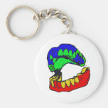MB Multicolor Mouth Design Keychain