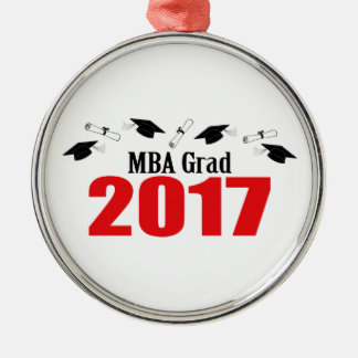MBA Grad 2017 Caps And Diplomas (Red) Christmas Ornament