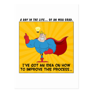MBA Graduates Know the Answers to All Problems Postcard