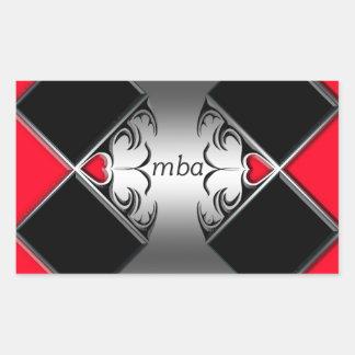 mba rectangular sticker