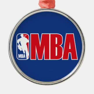 MBA Silver-Colored ROUND DECORATION