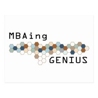 MBAing Genius Postcard