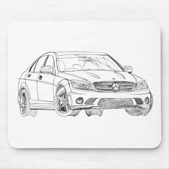 MBAMG C63 2008 MOUSE MAT