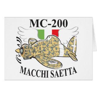 mc.200 saetta greeting card