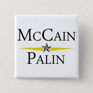 Mc Cain --*-- Palin 15 Cm Square Badge