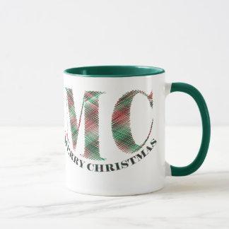 MC Merry Christmas CrossHatch Mug