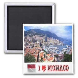 MC - Monaco - Principality of Monaco - I Love Magnet