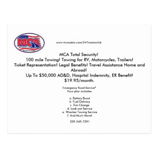 mca post card