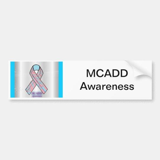 MCADD Awareness bumper sticker