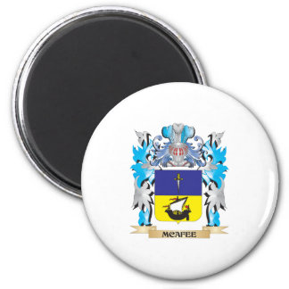Mcafee Coat of Arms - Family Crest 6 Cm Round Magnet