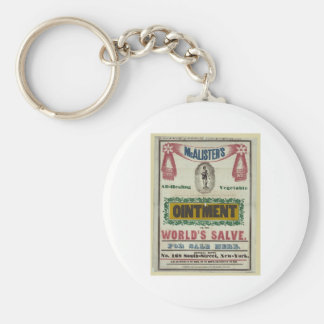 McAlister's All-Healing Vegetable Ointment Advert Key Ring