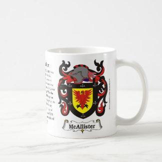 McAllister Family Coat of Arms Mug