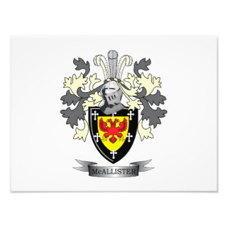 McAllister Family Crest Coat of Arms Photographic Print