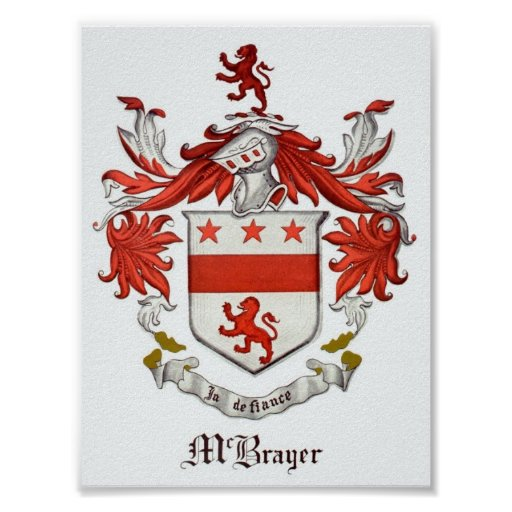 McBrayer Coat of Arms Poster