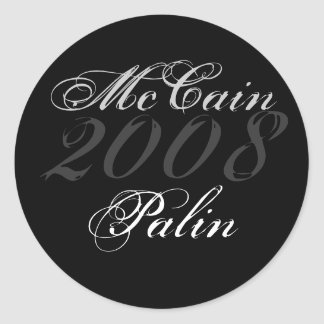 McCain, 2008, Palin Round Sticker