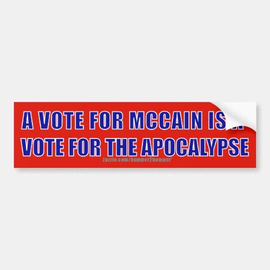 McCain Apocalypse Bumper Sticker