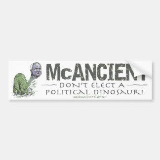 McCain Dinosaur Bumper Sticker
