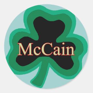 McCain Family Round Sticker