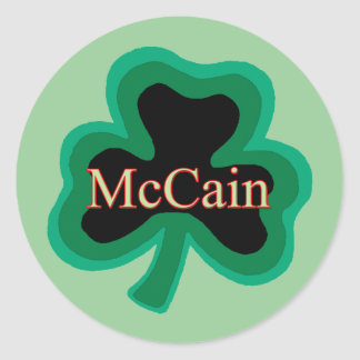McCain Family Classic Round Sticker