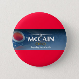 McCain for Ohio 6 Cm Round Badge
