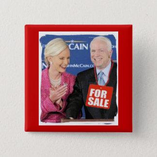 McCain For Sale Square Button
