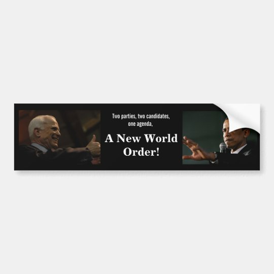 Mccain Obama Bumper Sticker