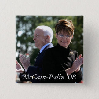 McCain-Palin '08 15 Cm Square Badge