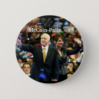 McCain-Palin '08, Vote for our fut... - Customized 6 Cm Round Badge
