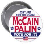 McCain Palin 2008 10 Cm Round Badge