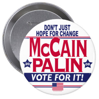 McCain Palin 2008 10 Cm Round Badge