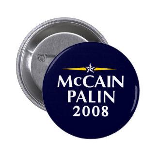 McCain Palin 2008 6 Cm Round Badge