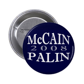 McCAIN PALIN 2008 Blue Button
