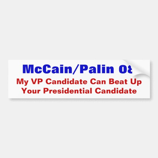 McCain Palin 2008 Bumper Sticker