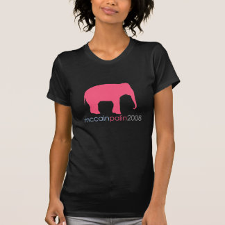 McCain Palin 2008 - Hot Pink Elephant T-Shirt