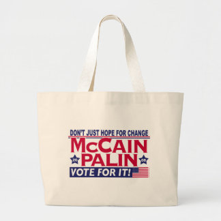 McCain Palin 2008 Large Tote Bag
