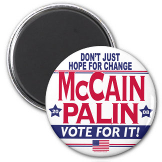 McCain Palin 2008 6 Cm Round Magnet
