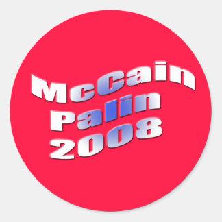 mccain palin 2008 round sticker