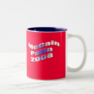 McCain Palin 2008 Two-Tone Coffee Mug