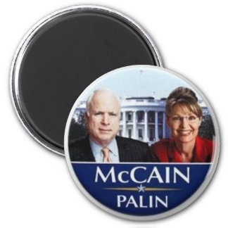 McCain Palin 6 Cm Round Magnet