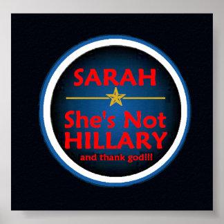 McCain Palin HILLARY Poster