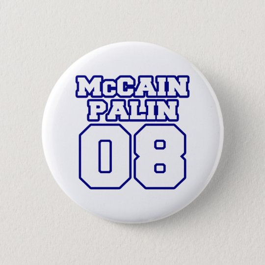 McCain Palin Jersey 6 Cm Round Badge