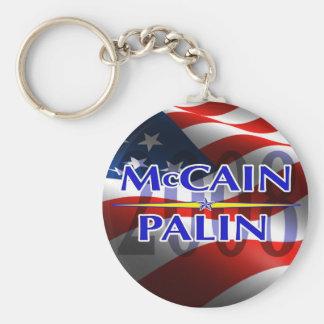 Mccain Palin keyhain Basic Round Button Key Ring