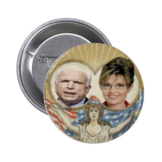 McCain / Palin Lady Liberty Button